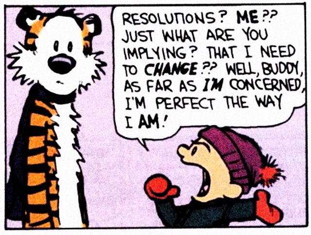 calvin hobbes new years resolutions